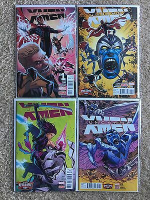 Uncanny X-Men 1, 6, 8, 10 LOT (2016) by Marvel Comics in (NM 9.8) Condition!!
