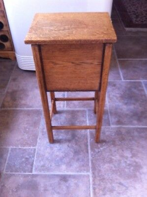 Antique Wooden Sewing Box / Vintage Wooden Stand