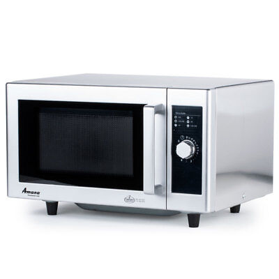 Amana RMS10DS 1000W Commercial S/s Microwave Oven 1 Power Level
