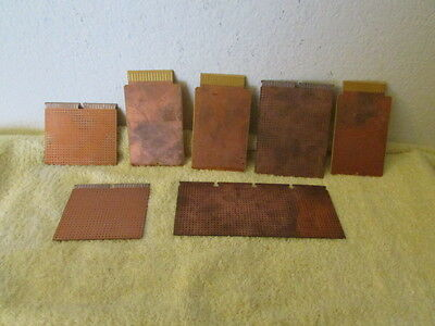 Lot Of 7 New Copper Prototype Pc Boards Nos
