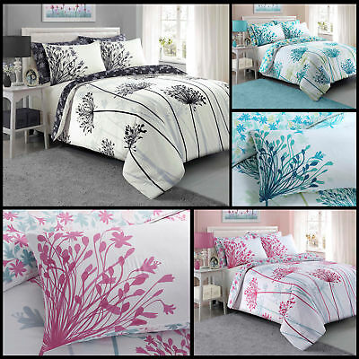 Meadow Floral Luxury Duvet Covers Quilt Covers Reversible Bedding Sets All Sizes