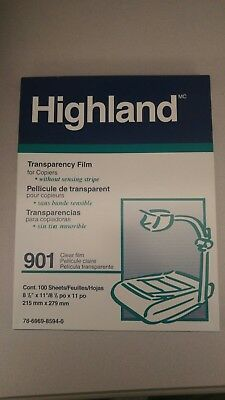 Highland Brand Transparency Film for Plain Paper Copiers 901 (100 8.5X11 Sheets)