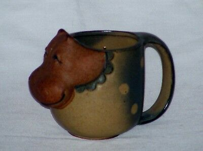 Dotty The Hippopotamus Mug Cup Vintage UTICI Clay Pottery Japan