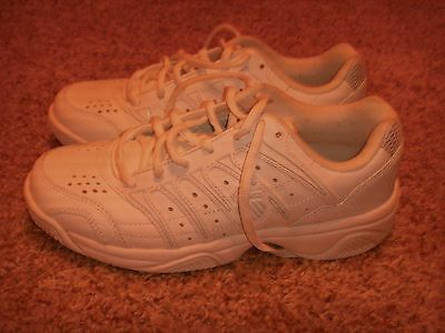 K-SWISS WHITE LEATHER ATHLETIC 92648115 Womens Size 7.5