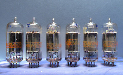 RCA 6CG7 6FQ7 for Conrac Vacuum Tubes Used Old Stock Clear Top Tested Lot of 6