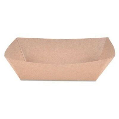 SCT Eco Paper Food Tray Baskets, Brown Kraft, 1/2 lb Capacity, Case of 1000
