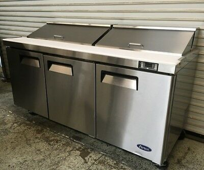 """NEW 72"""" 3 Door Refrigerated Sandwich Salad Prep Table Atosa MSF8304 #7088"""