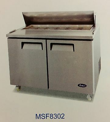 """NEW 48"""" 2 Door Refrigerated Sandwich Salad Prep Table Atosa MSF8302 #2225"""