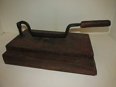 Antique Food Chopper, Chopper Blacksmith Made 19th century, plug cutter