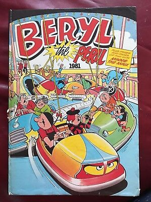 Beryl The Peril : Annual 1981 : With Minnie The Minx : Topper Comic : Vintage