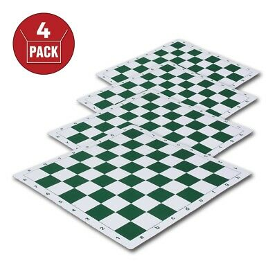 "USCF Sales Regulation Silicone Tournament Chess Board 2.25/"" Squares Green /& Na"