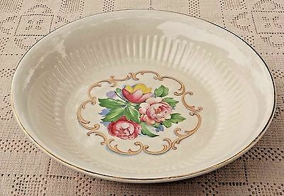 Vintage Royal China Serving Bowl - Park Lane - Dalton Rose - 22K Gold Trim - Usa