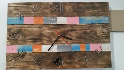 Hand Made Wall Clock made from reclaimed wood wall art