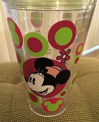 Large Minnie Mouse Glass With Straw Authentic Disney Parks So Spring And Summer