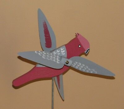 Galah Whirligig With Spinning Wings