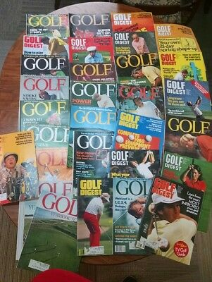 VINTAGE LOT OF 30 GOLF DIGEST MAGAZINES 70's Player Nicklaus kite Lopez Kite b88