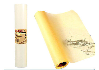 2 Rolls Transparent Yellow Tracing Sketch Butter Paper Artist Copy Drafting 50M