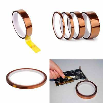 5/10/20/50mm X 100ft Heat Resistant High Temperature Polyimide Kapton Tape UK