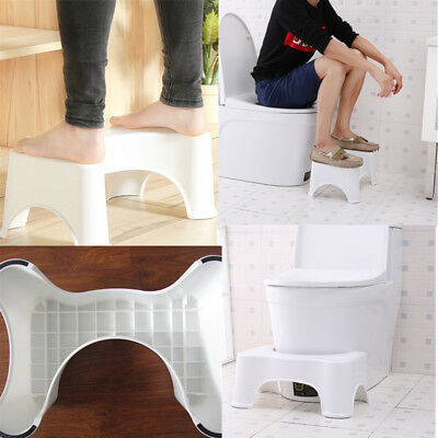 Toilet Step Stool Bathroom Potty Squat Aid For Constipation Piles Relief