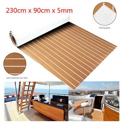 Self Adhesive Marine Flooring Synthetic Teak EVA Foam Boat Yacht Decking Carpets