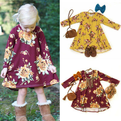 AU Baby Girl Floral Dress Party Wedding Pageant Formal Dresses Sundress Clothes