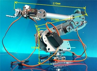 6DOF Mechanical Robot Arm Claw+MG996R & MG90S Servo f/ Arduino DIY Unassembled