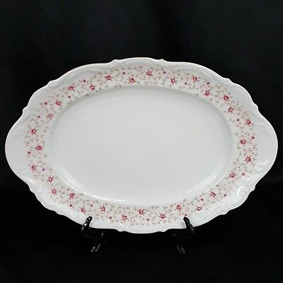 """Mitterteich Bavaria LADY CLAIRE Rose China Germany 15"""" Oval serving platter tray"""