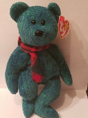 Ty Beanie Baby Wallace Stuffed Toy Plush Bear Retired Rare with Errors