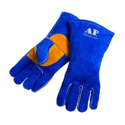 Welding Gloves Split Leather Heat Resistant Hand Palm Protector Cooking Gloves
