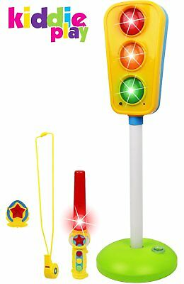 Play Traffic Light Toy for Kids Car N Bikes Crosswalk Signal with Lights N Sound