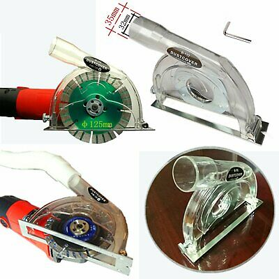"""For 4"""" / 5"""" Hand Angle Grinder and 3""""/4""""/5"""" saw blades Clear Cutting Dust Shroud"""