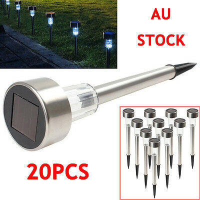20PCS Waterproof LED Solar Power Yard Path Home Garden Lawn Landscape Lamp Light