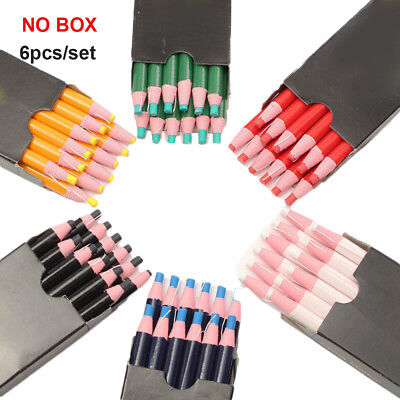 6X Chinagraph China Markers Grease Peel Off Wax Pencil For Metal Glass Fabric