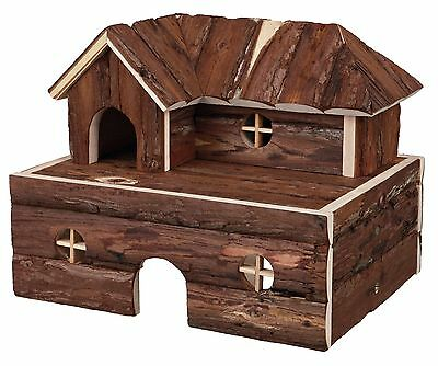 2 Storey Wooden Berit House with Inside Steps Removable Top Floor Mice Hamsters