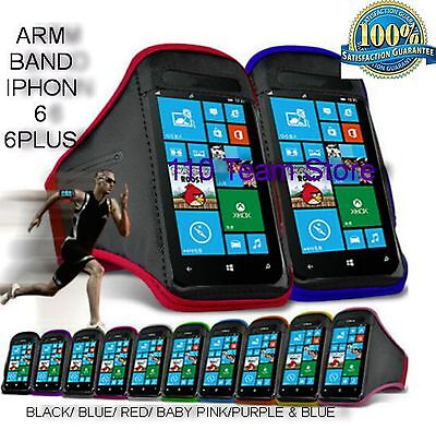 Sports Running Jogging Gym Arm Band Case Cover For All Smart Phone Models