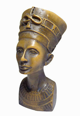 "Egyptian Queen Nefertiti Pharaoh Figurine Statue Ancient  2.5""  Sculpture (201)"