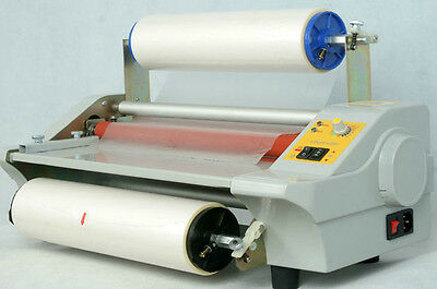 220V Hot Cold Roll Laminator Single&Dual Sided Laminating Machine 350mm 600W