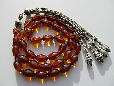 Bernstein Amber Gebetskette Prayer Beads سبحة مسبحة