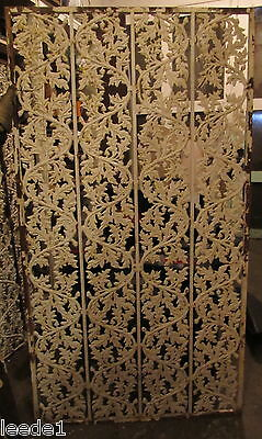Heavy Cast Iron Panel 36 x 68 Oak Leaves Acorn Garden Architectural Salvage