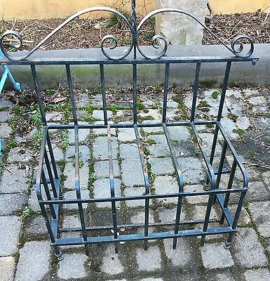 Wrought Iron Garden Bench Or Window Sir Conditioner Cover Unique Vintage