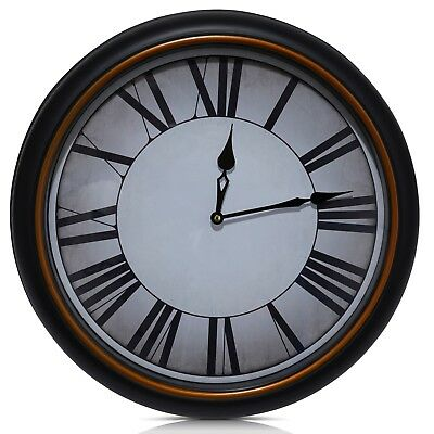 20 Inches Large Wall Clock Classic Antique Finish  For Home Ideal For Gift