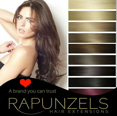 """Clip in human remy hair extensions 20"""" long weave/weft all colours DIY"""