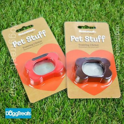 DOG CLICKER Training Aid Puppy Trainer Tricks Cat Obedience Rosewood Pet Stuff