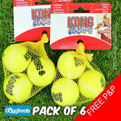 KONG AIR SQUEAKER DOG TENNIS BALL SQUEAKAIR - XSmall, Small, Medium, Large Balls