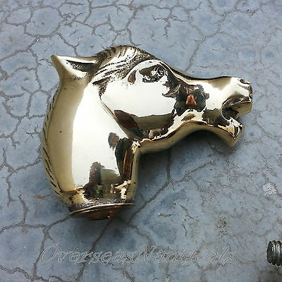 Solid Brass Designer Horse Head Handle for Walking Stic Antique Style #