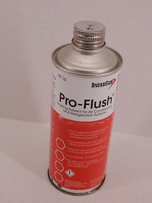 DIVERSITECH PRO-FLUSH FLUSHING SOLVENT HVAC PF-16 16oz R-410A CONVERSION