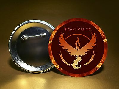 "Pokemon GO Team Valor Button - 3"" Round Badge - Pin Back Button - FREE SHIPPING!"