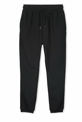 Boys Girls Kids School PE Fleece Jogging Track Bottoms Trousers,  COLOUR  BLACK