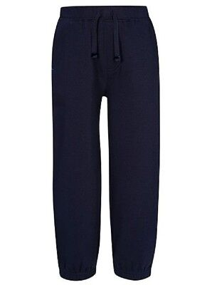 Boys Girls Kids School PE Fleece Jogging Track Bottoms Trousers,  COLOUR  NAVY