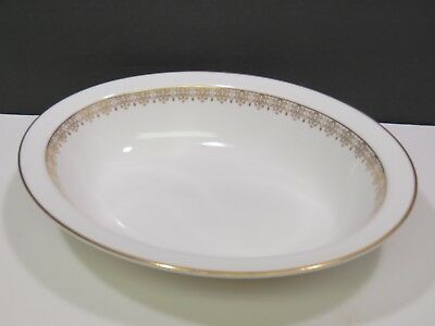 "Royal Doulton Gold Lace Oval 10.75""  Serving Vegetable Bowl"